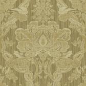 Carleton Damask Mustard Wallpaper 292-81605