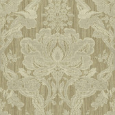 Carleton Damask Ecru Wallpaper 292-81608