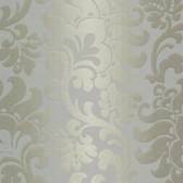 Contemporary Large Jacobean Platinum Wallpaper 302012