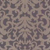 Contemporary Ironwork Brown-Grape Wallpaper 302037