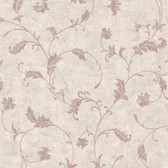 Chateau Chambord Ciana Elegant Floral Scroll Heather Wallpaper FS1193