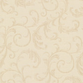 Chateau Chambord Donata Regal Scroll Latte Wallpaper FS1291