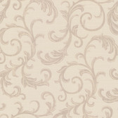 Chateau Chambord Donata Regal Scroll Sepia Wallpaper FS1292