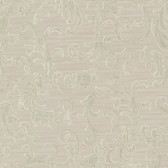 Chateau Chambord Donata Regal Scroll Sage Wallpaper FS1293