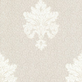 Chateau Chambord Bianca Noble Damask Linen Wallpaper FS13243