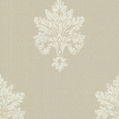 Chateau Chambord Bianca Noble Damask Hazelwood Wallpaper FS13245