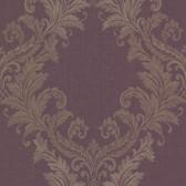 Chateau Sofia Royal Harlequin Scroll Grape Wallpaper FS1418