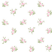 344-68706-Petra Pink Roselle Toss wallpaper