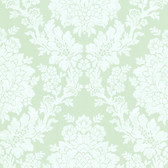344-68715-Liza Blue Roselle Damask wallpaper