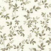 344-68723-Cleo Off-White Dog Rose Leaf Trail wallpaper