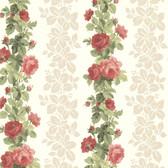344-68737-Preshea Red Rose Stripe wallpaper