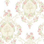 344-68742-Maybelle Pink Cameo Damask wallpaper