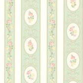 344-68747-Palmer Mint Stripe wallpaper