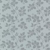 344-68767-Phoebe Blue Rose Leaf wallpaper