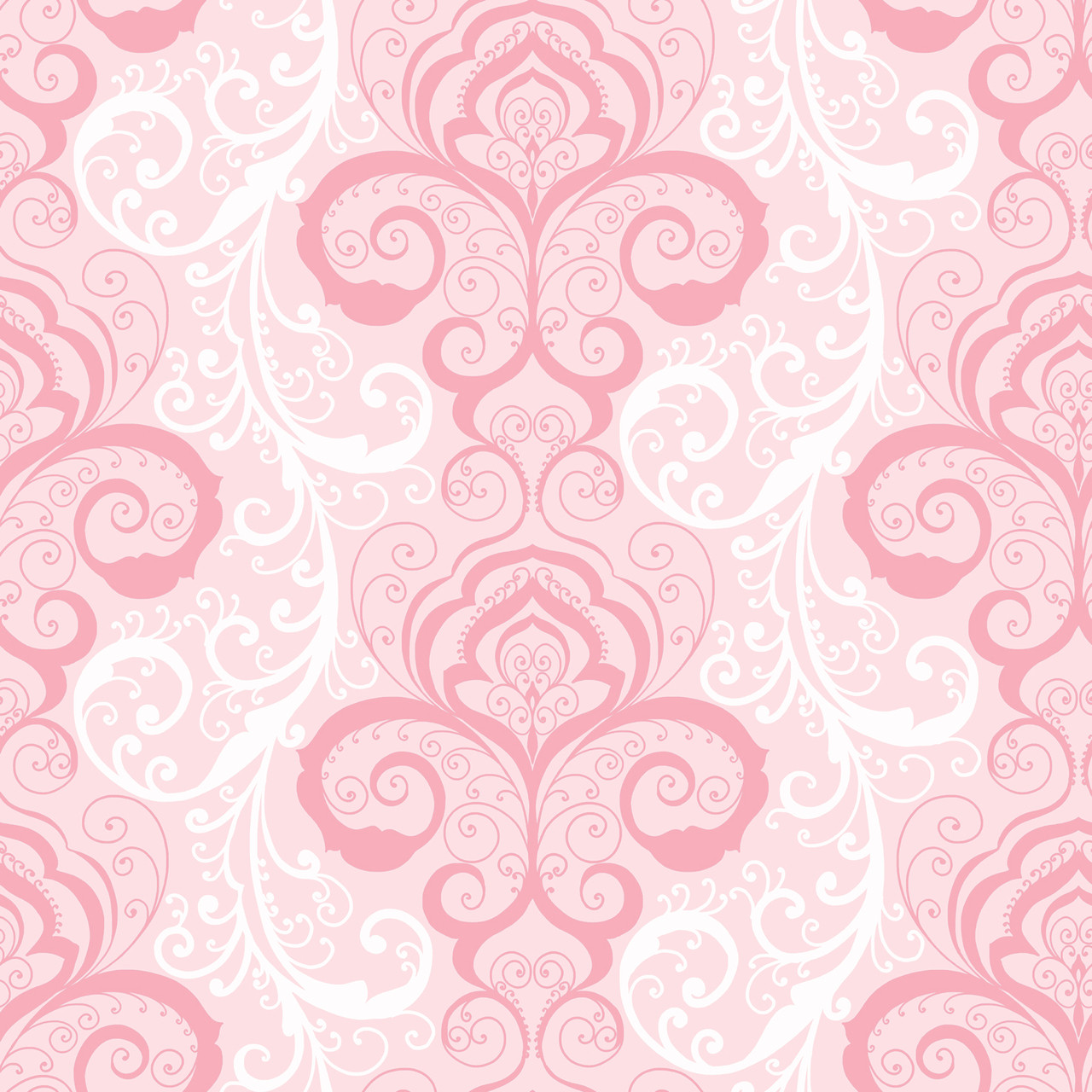 Contemporary Christel Vanessa Henna Brocade Wallpaper In Pink And White Chr11641