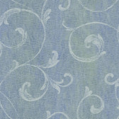Contemporary Christel Gibby Leafy Scroll Carolina Blue Wallpaper CHR11666