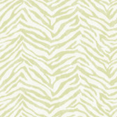 Contemporary Christel Mia Faux Zebra Stripes Lime Green Wallpaper CHR11671
