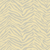 Contemporary Christel Mia Faux Zebra Stripes Grey-Gold Wallpaper CHR11674