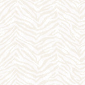 Contemporary Christel Mia Faux Zebra Stripes Cream Wallpaper CHR11675