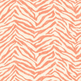 Contemporary Christel Mia Faux Zebra Stripes Orange Wallpaper CHR11676