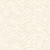 Contemporary Christel Mia Faux Zebra Stripes Beige Wallpaper CHR11677