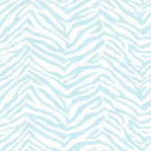 Contemporary Christel Mia Faux Zebra Stripes Sky Blue Wallpaper CHR11678