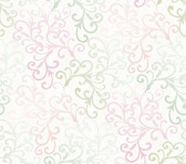 Contemporary Christel Fading Busy Toss Wallpaper in Lilac and Green CHR11681