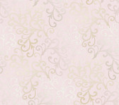 Contemporary Christel Fading Busy Toss Wallpaper in Rose and Taupe CHR11682
