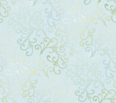 Contemporary Christel Fading Busy Toss Wallpaper in Gold and Light Blue CHR11685