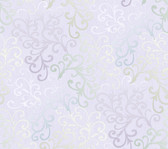 Contemporary Christel Fading Busy Toss Wallpaper in Green and Heather CHR11686