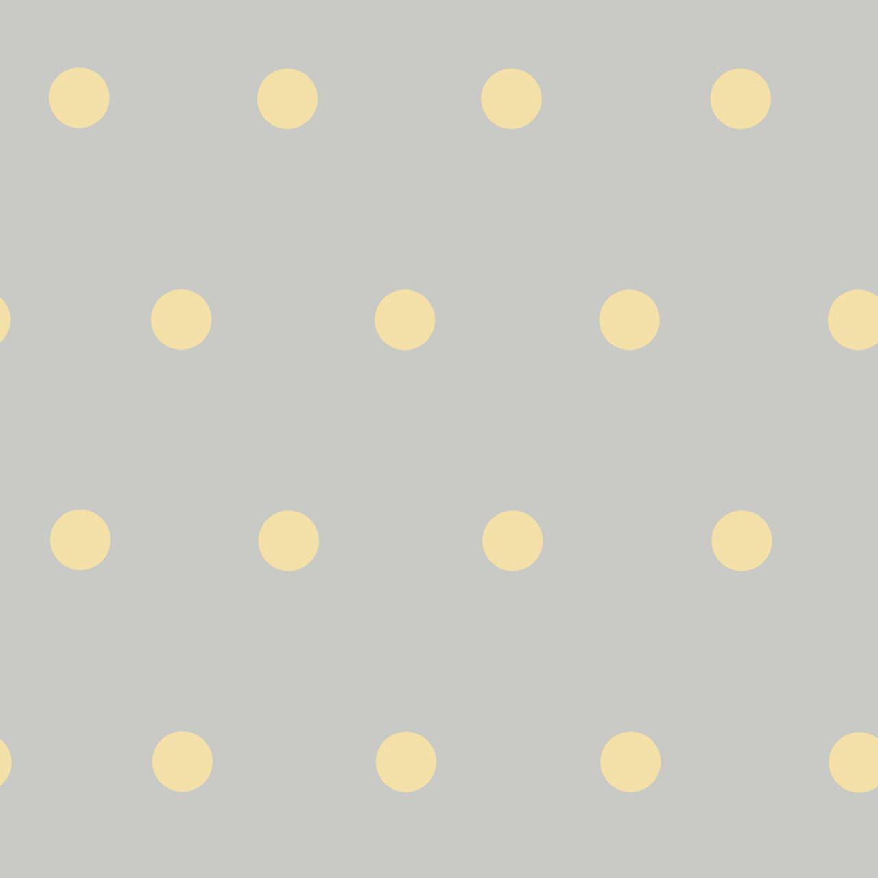 Contemporary Christel Kenley Polka Dots Grey Yellow Wallpaper Chr11714 Indoorwallpaper Com