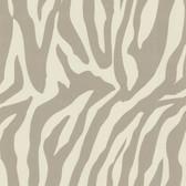 Zinc Zebbie Zebra Print Cream-Taupe Wallpaper 450-67326