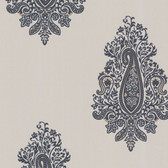 Zinc Dynasty Paisley Dove Wallpaper 450-67342