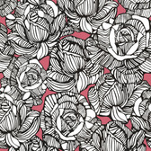 Zinc Calista Modern Rose Pink-Charcoal Wallpaper 450-67348