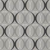 Zinc Circulate Retro Orb Pewter Wallpaper 450-67349