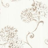 Zinc Deliah Watercolor Dahlia Chiffon Wallpaper 450-67355