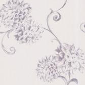 Zinc Deliah Watercolor Dahlia Iris Wallpaper 450-67356