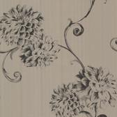 Zinc Deliah Watercolor Dahlia Mocha Wallpaper 450-67357