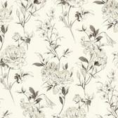 Zinc Jolie Floral Toss Cotton Wallpaper 450-67369