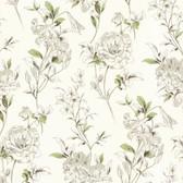 Zinc Jolie Floral Toss Fern Wallpaper 450-67371