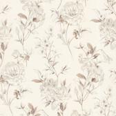 Zinc Jolie Floral Toss Ivory Wallpaper 450-67372