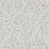 Zinc Adelaide Ogee Floral Heather Wallpaper 450-67382