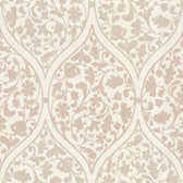 Zinc Adelaide Ogee Floral Sepia Wallpaper 450-67385