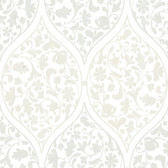 Zinc Adelaide Ogee Floral Periwinkle Wallpaper 450-67387