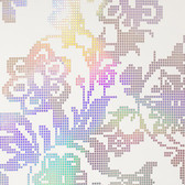 Eijffinger 341740-Sadira Beige Pixelated Modern Floral wallpaper