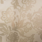 Eijffinger 341741-Sadira Brass Pixelated Modern Floral wallpaper