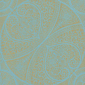 Eijffinger 341752-Yasamin Teal Mehndi Medallion wallpaper