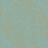 Eijffinger 341752-Yasamin Teal Mehndi Medallion wallpaper