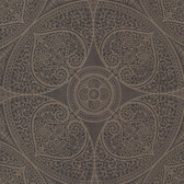 Eijffinger 341754-Yasamin Espresso Mehndi Medallion wallpaper