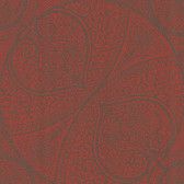 Eijffinger 341755-Yasamin Red Mehndi Medallion wallpaper